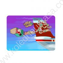 арабския дядо Коледа с килимче