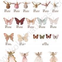 коледни висулки пеперуди и феи